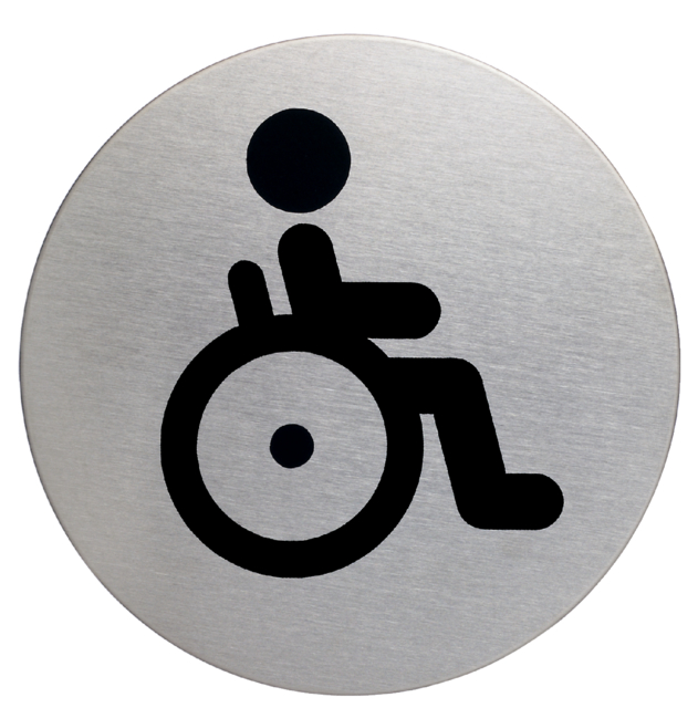 Infobord pictogram Durable 4906 wc invalide rond 83mm