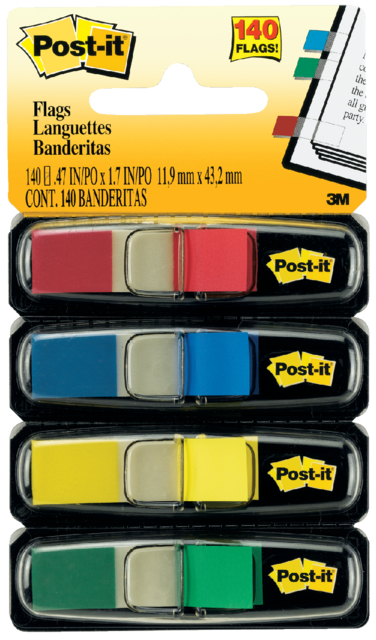 Indextabs 3M Post-it 6834 11,9x43,1mm assorti