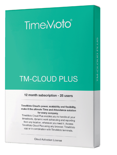 TimeMoto TM-CLOUD+ 25 user subscribtion