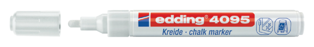 Krijtstift edding 4095 rond wit 2-3mm blister