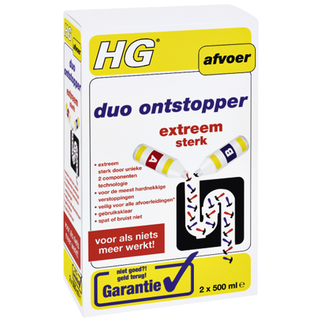 Afvoerontstopper HG Duo 2x500ml