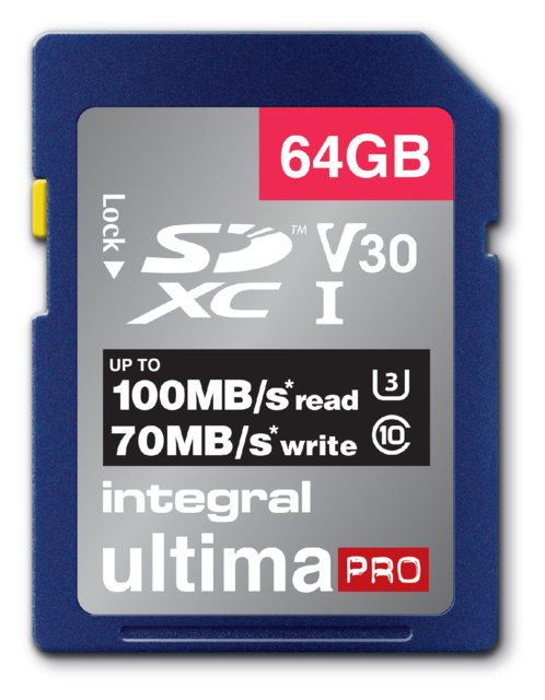 Geheugenkaart Integral SDXC V30 64GB