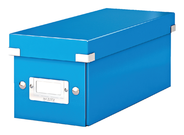 Cd box Leitz WOW Click & Store 143x136x352mm blauw