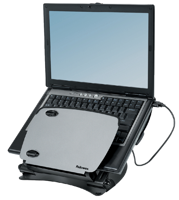 Laptopstandaard Professional series metaal+USB