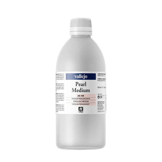 Acrylmedium Acrylicos Vallejo 500ml 158 parelmoer
