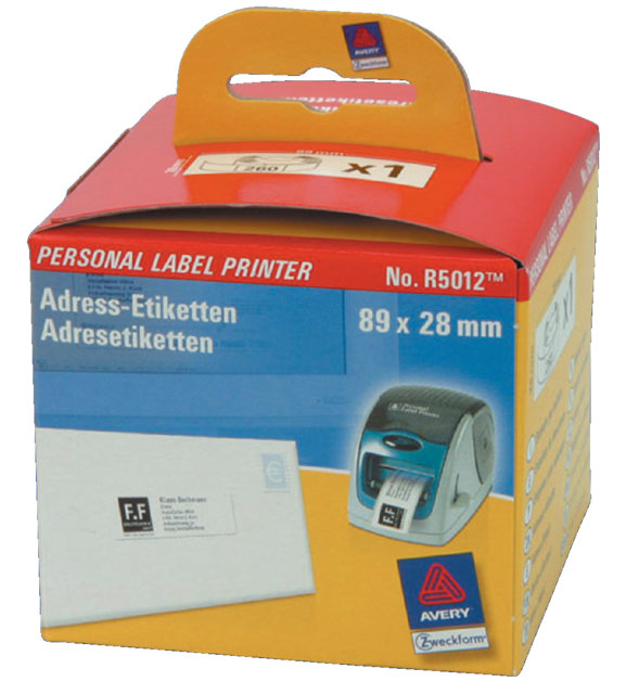 Etiket Avery Zweckform R5012 labelprint 89x28mm wit 260stuks